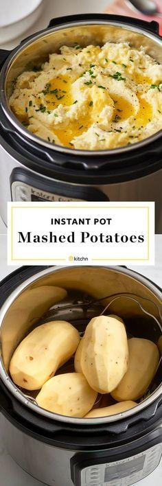 When you're cooking for a crowd slow cooker recipes are golden. This tutorial shows you how to make instant pot mashed potatoes. This mashed potato recipe is one you should keep for the books. You'll need russet potatoes kosher salt freshly ground blac Instant Pot Pressure Cooker, Pressure Cooker Recipes, Pressure Cooking, Pressure Pot, Power Cooker Recipes, Pressure Cooker Chicken, Crock Pot Recipes, Cooking Recipes, Snacks Recipes