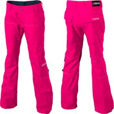 "Have these in ""sunshine"" yellow, I love them in pink too though! Women's Nomis Slim Snowboard Pant"