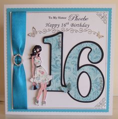 Birthday Card For A Teenager 16th Girl Cards