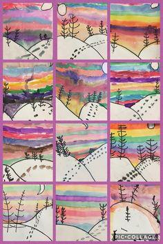 hiver Footprints in snow. Wedding Accessory Guide: Accessories Are An Impo Grade 1 Art, Third Grade Art, Winter Art Projects, School Art Projects, Kindergarten Art, Preschool Art, Arte Elemental, Atelier D Art, Art Lessons Elementary