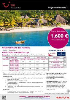 Oferta especial Isla MAURICIO - Hotel Trou Aux Biches. Precio final desde 1.600€ - http://zocotours.com/oferta-especial-isla-mauricio-hotel-trou-aux-biches-precio-final-desde-1-600e/