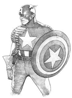 Captain America realistic pencils by Travis Charest! (Marvel comics)