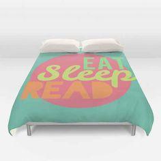 Eat Sleep Read Duvet Cover