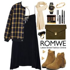 Romwe by oshint on Polyvore featuring moda, J.Lindeberg, Versace, Monki, Cachet, Auden, Argento Vivo, Tom Ford, Bobbi Brown Cosmetics and romwe