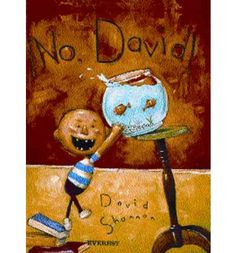 When author and artist David Shannon was five years old, he wrote a semi-autobiographical story of a little kid who broke all his mother's rules. He chewed with his mouth open, jumped on the furniture, and he broke his mother's vase. As a result, all David ever heard his mother say was `No, David!`