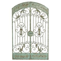 Garden Gate Wall Decor 1960s wrought iron arbor w/ gate on onekingslane | what i want