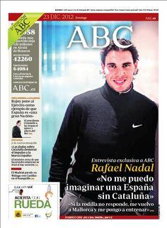 La portada de ABC del 23 de diciembre