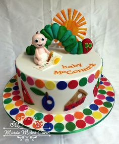The Very Hungry Caterpillar Cake by Mardie Makes Cake, Darwin, Northern Territory, Australia. You'll find this Cake Appreciation Society Member in our Directory at www.cakeappreciationsociety.com