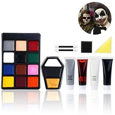 PBPBOX Halloween Makeup Face Painting Kit for Zombie Vampire Witch (Style 2) #Vampire #Halloween #Costumes