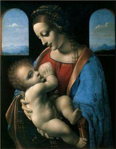 Madonna Litta (Madonna and the Child) - Leonardo da Vinci-Hermitage