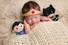 newborn wonderwoman superhero