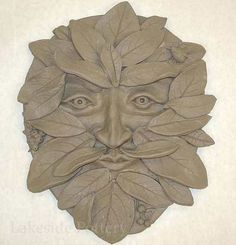 green man gargoyle. Make with stoneware for MY garden