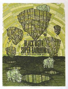 Black Moth Super Rainbow concert poster by The Bungaloo - $20.00