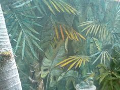 Exterior jungle mural by Donzine. Plant Leaves, Exterior, Wall Art, Painting, Painting Art, Paintings, Outdoors, Painted Canvas, Drawings