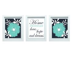 BLACK FRIDAY SALE Love Hope Dream Flower Wall Art Living Room Art Flower Wall Decor Wall Art Home Decor Living Room Decor Wall Art Set of 3-8X10 Prints Bathroom or Bedroom or Kitchen Wall Art ♥ Print size: Three 8x10 ♥ Prints are unmatted and unframed. Framed images are for
