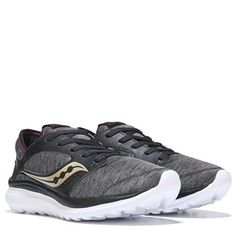Saucony Kineta Relay Memory Foam Running Shoe Heathered / Black  **Donation made to March of Dimes