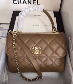 ea384822fd03 Bella Vita Moda online fashion boutique · Chanel Small Trendy CC Top Handle  Bag Quilted Lambskin Camel #handbags #fashion #bags