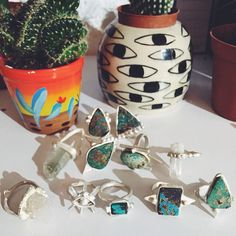 p r o g r e s s  #turquoise #jewellery #silver #cactus #cleopatrasbling #yüzük #crystals (at www.cleopatrasbling.com)