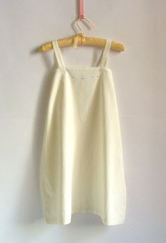 Vintage 50s Italian Creamy Cotton Night Gown by PittiVintage, $25.00