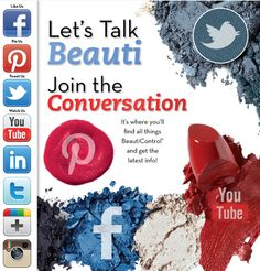 Let's talk BEAUTI! Follow us on your favorite social network for the latest in products, fashion tips, makeup application tutorials, skin care expertise and specials! #BeautiControl
