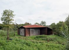 Carmody Groarke creates two ruin-like pavilions at English country home