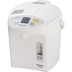 The Panasonic water capacity electric thermo pot has a slow-drip coffee feature, Bincho-tan Charcoal Coated Container. The unit has an Easy-to-Read Water G Fresh Coffee, Drip Coffee, Coffee Pods, Noodles And More, Coffee And Tea Makers, Hot Water Dispensers, Water Boiler, Instant Recipes, Multicooker