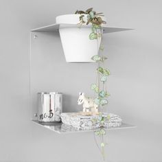 Small Fold Shelf by Made of Tomorrow, a clever design. Browse The Clever Design Store for Homeware, Furniture, Shelving. Clever Design, Home Studio, Beautiful Space, Floating Nightstand, Interior Architecture, Shelving, My House, Interior Decorating, Shelf
