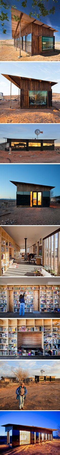 Not so tiny, but a lot of these ideas could be adapted to tiny house living. ========================== Nakai House par des étudiants en architecture - Journal du Design, note bed behind bookcases Residential Architecture, Interior Architecture, Architecture Journal, Eco Friendly House, Prefab Homes, Tiny House, House 2, Exterior, House Styles