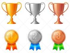 Realistic Graphic DOWNLOAD (.ai, .psd) :: http://vector-graphic.de/pinterest-itmid-1005531113i.html ... Trophy Cups and Medals ...  achievement, award, bronze, competition, contest, cup, gold, icon, illustration, medal, place, ribbon, silver, sport, success, trophy, vector, winning  ... Realistic Photo Graphic Print Obejct Business Web Elements Illustration Design Templates ... DOWNLOAD :: http://vector-graphic.de/pinterest-itmid-1005531113i.html