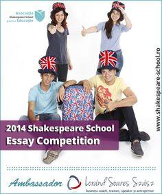 Mai ai 2 saptamani in care poti castiga un loc in tabara din Marea Britanie! Essay Competition, Business Coach, School Essay, Shakespeare, Movies, Wings, 2016 Movies, Films, Low Carb Cheesecake