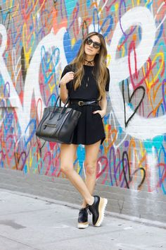 Hearts on Mott - Skirt: Isabel Marant / Tee: LNA / Belt: H&M / Bag: Celine / Sunnies: Bottega Venetta / Necklace: Vanessa Mooney / Shoes: Stella McCartney June 3, 2016
