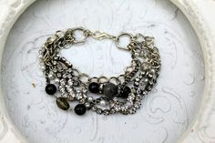 Vintage rhinestone, gemstone, silver, gemstone