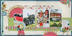 "Beautiful Life ""Watermelon Festival"" Double-Page Layout PDF"