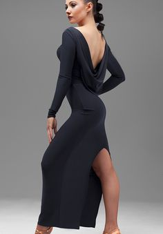 Chrisanne Serenity Drape Back Latin Dress| Dancesport Fashion @ DanceShopper.com