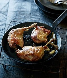 Pete Evans recipe for crisp duck confit. Goose Recipes, Duck Recipes, Gourmet Recipes, Cooking Recipes, Appetizer Recipes, Confit Recipes, Pete Evans, Duck Confit, Recipe Search
