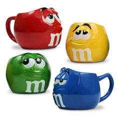 For the kids in the cafe and when Jimmy is visiting :) Cute Coffee Cups, Unique Coffee Mugs, Coffee Love, M&m Characters, Disney Coffee Mugs, M M Candy, Gadgets, Cool Mugs, Coffee Is Life