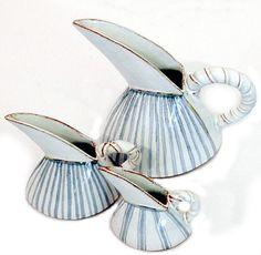 HENNIE MEYER Hand decorated ceramic kettles