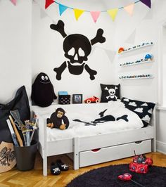 the boo and the boy: pirate themed room