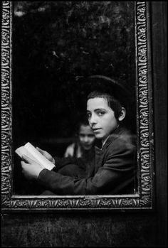 Jewish Hassidic school, Brooklyn, New York, 1954 by  Leonard Freed