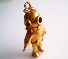 Large 9ct Gold Deep Sea Diver Charm by TrueVintageCharms on Etsy