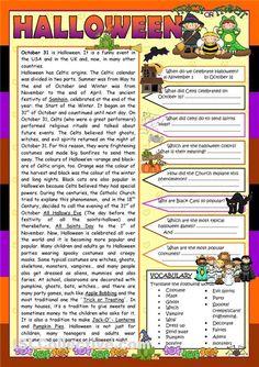 halloween worksheets for kids and esl students printable spelling crossword word search. Black Bedroom Furniture Sets. Home Design Ideas