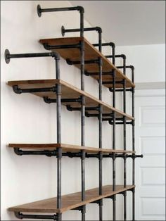 Do-It-Yourself Cast Iron Pipe Shelving