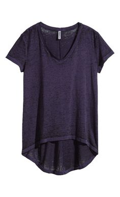 H&M Deep Purple Hi-Lo Shirt