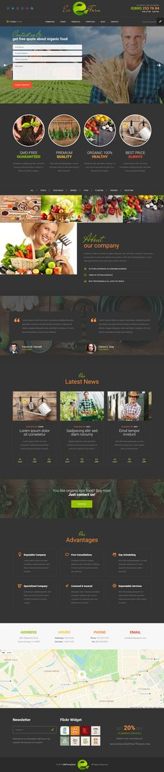 Eco Farm is a eye catching Bootstrap #HTML template for #agricultural #company, organic farming business, green grocery store website download now➩ https://themeforest.net/item/eco-farm-organic-food-eco-farm-html-template-/17171289?ref=Datasata
