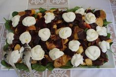 winter salad with whipped goat cheese