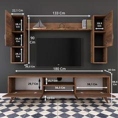 Tv Unit Interior Design, Tv Unit Furniture Design, Tv Wall Design, Tv Cabinet Design Modern, Bookshelf Design, Modern Tv Room, Modern Tv Wall Units, Tv Unit Decor, Tv Wall Decor
