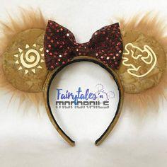 Disney Inspired The Lion King Ear Headband, Minnie Ears, Mickey Ears, Simba Ears. Disney Diy, Diy Disney Ears, Disney Crafts, Disney Headbands, Ear Headbands, Kids Headbands, Disney Minnie Mouse Ears, Lion King Birthday, Disneyland