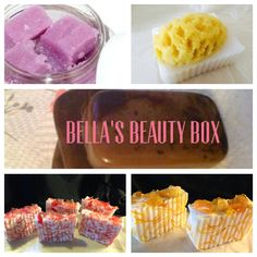 http://bellaspabox.cratejoy.com/  What is Bella's Beauty Box? Bella Beauty Box is a monthly subscription box containing handmade artisan soap,body scrub,lotion and more made with all natural ingredients. Each month you will receive luxurious soaps, body scrub, bath bomb and other spa products. All products are made in the USA, and ship directly to your door. You will not find any harmful chemicals in any of the beauty products. We take pride in our customer service.