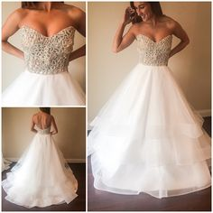 Ivory & White Bridal Boutique | Hayley Paige wedding gown @hayleypaigejlm www.ivorywhiteboutique.com