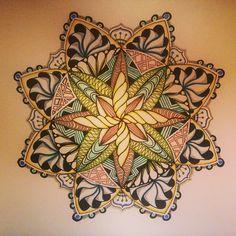 Color love  #zentangle  #tanglespeak